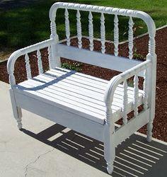 Bench made from headboard | Bench1.jpg