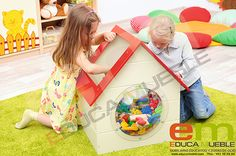 #Mueble contenedor #infantil para guardar #juguetes - Tienda Educamueble