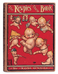 """The Kewpies and Their Book  8"""" x 10 1/2"""". With verse and illustrations by Rose O'Neill,Frederick Stokes,1913."""