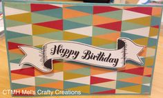 Front of the gift card holder. Using old CTMH papers and CTMH artiste cricut cartridge.