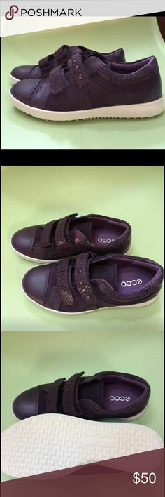 Ecco little girl sneakers. New NEW. Soft genuine leather/Core-Tex. Size 34 Eu, US 3, 22cm.  I bought this high quality orthopedic brand shoes for my daughter in Europe. She has never wear them, as I did the mistake to buy it for future. She simply overgrow it. Ecco Shoes Sneakers