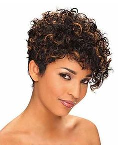15.Cute Short Curly Hairstyle                              …