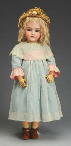 Classic German Bisque K & H Child Doll.