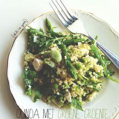 Recept: Quinoa met groene groenten