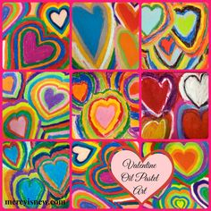 Keeping Valentine's Day simple yet meaningful for your family! Several frugal ideas and 2 art projects! Valentine Oil Pastel Art @mercyisnew.com