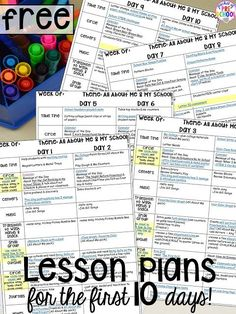 FREE preschool, pre-k, and kinder LESSON PLANS for the 1st ten days of school! Plus tips and tricks for back to school.