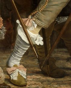 Bartolomeus van der Helst, Detail of: Militia Company of District VIII under the command of Captain Roelof Bicker oil on canvas 1643. This civic guard painting is a substantial Rijksmuseum Amsterdam.