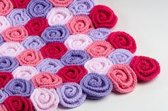 3d illusion afghan block pattern | Crochet Baby Blanket Field of Roses