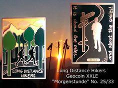 """Hide*seek: Long Distance Hikers Geocoin XXLE """"Morgenstunde"""" No. 25/33"""