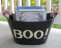 Halloween book basket
