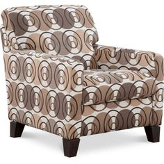 Suede So Soft: A Dramatic Fabric Dresses Up This Accent Chair. We Chose A  Bold Floral With Todayu0027s Fashion Color Of Grey With A Punch Of Red For Evu2026