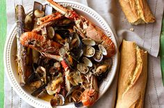 Try this delicious shellfish stew recipe from Jamie magazine – the cider adds a nod to moules marinières with a touch of luxury from the langoustines. Jamie Oliver, Friday Night Feast, Seafood Stew, Wood Fired Oven, Vegetable Puree, Plum Tomatoes, Seafood Recipes, Shellfish Recipes, Oven Recipes