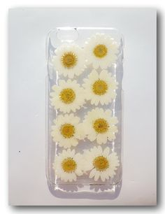 Handmade iPhone 6 case Resin with Dried Flowers by Annysworkshop