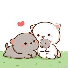 Cute Cartoon Images, Cute Love Cartoons, Cute Cartoon Wallpapers, Cute Images, Cute Love Pictures, Cute Love Gif, Cute Bear Drawings, Kawaii Drawings, Chibi Cat
