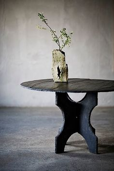 Slate Table by Axel Vervoordt - photo by Manolo Yllera