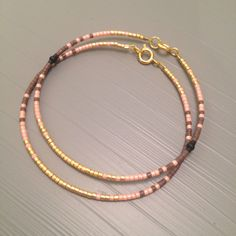 Gold Filled Bracelet Bridesmaid Jewelry gift Blush Bridesmaid Bracelet set Peach bracelet Blush Wedding by ToccoDiLustro on Etsy https://www.etsy.com/ca/listing/249987323/gold-filled-bracelet-bridesmaid-jewelry