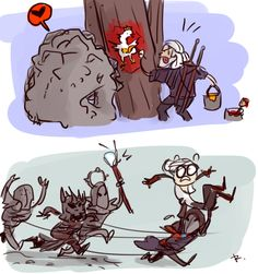 The Witcher 3, doodles 9 by Ayej on DeviantArt