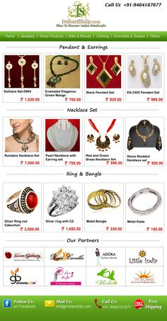 Buy artificial jewellery online at Indianshilp. New wide range of women bracelets, bangles, pendants, earrings, jewelry box, necklaces, broach etc at cheap prices.