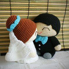 crochet bruidspaar