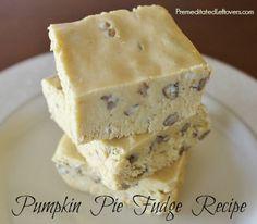 Pumpkin Fudge Recipe with pumpkin pie spices and pecans