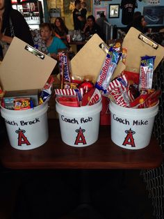 Fall 2013 coaches gifts Softball Coach Gifts, Cheerleading Gifts, Basketball Gifts, Team Gifts, Sports Gifts, Baseball Coaches, Baseball Training, Softball Mom, Baseball Treats