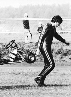 Senna e o kart. O início de uma carreira de sucesso.