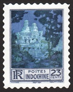 "The French Indochina 23-cent Persepolis stamp of 1909, with its art by Edmund Dulac, calls to mind these lines from The Rubaiyat of Omar Khayyám…""Sic transit gloria mundiYon fort once proudly towered into the blue;Kings at its portals rendered homage due.Now from its ruins sounds the dove's lone coo,And fondly asks who built it, who, who, who?"""