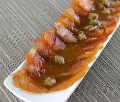 Salmó marinat al gingebre amb salsa de cítrics i wasabi #thermomix