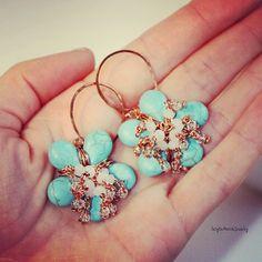 orecchini azzurri orecchini a fiore pasta di SusyDeMarchiJewelry, €47,00