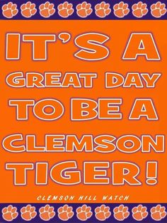 Clemson, Tiger pride!!!  Like my facebook page for exercise tips, support, and recipes.  https://www.facebook.com/letsbefit43/?ref=aymt_homepage_panel