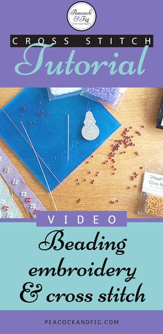 Beading embroidery and cross stitch projects doesn't have to be hard, and it can add a wonderful flash of bling to your pieces. This cross stitch tutorial demonstrates the various kinds of needles you can use, how to stitch your beads on and read the pattern, and how to keep your beads from rolling around. Check out the blog post for extra tips such as how to wash and care for your beaded projects.