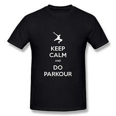 Men's Keep Calm And Do Parkour T-shirt #camiseta #realidadaumentada #ideas #regalo