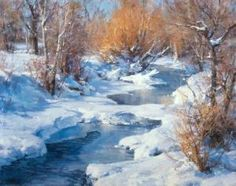 """Clyde Aspevig  """"Golden Willows"""" by guadalupe"""