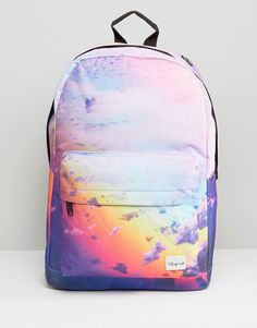 Buy Spiral Clouds Backpack In Blue at ASOS. Get the latest trends with ASOS now. Asos, Fashion Backpack, Fashion Online, Clouds, Backpacks, Purses, Blue, Shopping, Ideas