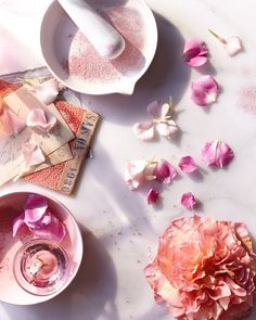 Currently inspired flat lay photography, food photography, product photography, still life photography, Flat Lay Photography, Still Life Photography, Photography Tips, Product Photography, Photography Flowers, Pretty Images, Prop Styling, Rose Water, Pink Aesthetic