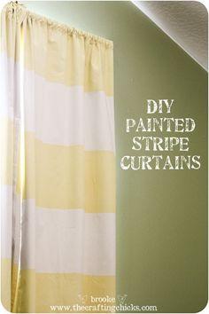 Striped curtains- DIY