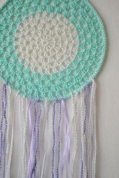 Crochet violet dreamcatcher by PinkStylette on Etsy, $35.00