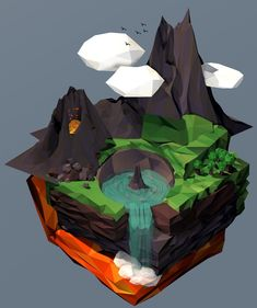 Low-Poly Landscape | Awesome Design Inspiration