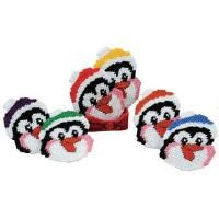 Craftways® Penguin Coasters with Holder Plastic Canvas Kit
