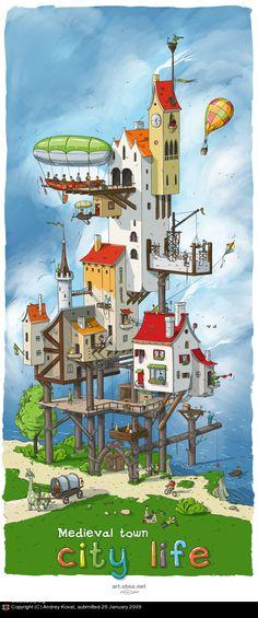 City life by Andrey Koval | 2D | CGSociety