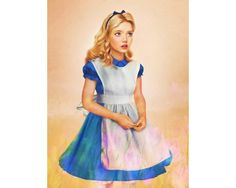 Realistic Disney Characters -Realistic Disney Characters #5 Alice  We think Jirka does a great job of capturing the spirit of these characters. Little Alice seems in awe, curious, and maybe just a bit afraid, as one probably should in Wonderland.