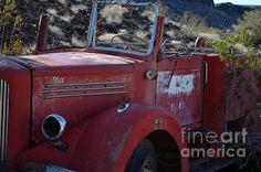Classic red fire truck.