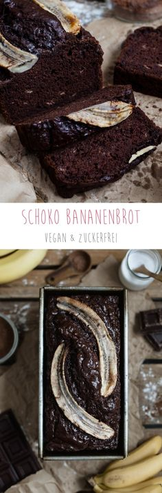 Schoko Bananenbrot vegan zuckerfrei