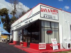 #srq Java Dawg Cafe  4615 S. Tamiami Trail (just north of Proctor)  http://www.javadawgcoffee.com