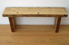 Reclaimed  Wood Bench  Barn Wood Barn Beams by UpcyclartDesigns, $300.00