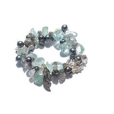 Aquamarine Bracelet | Bohemian Beaded Bracelet | Statement Bracelet | Luxury Jewelry | Fine Jewelry | Pices Jewelry | March Birthstone | 717 by VanDerMuffinsJewels on Etsy