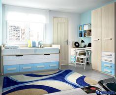 H_152 Habitación juvenil práctica, sencilla y elegante. Adaptada y diseñada para espacios reales. Habitaciones Juveniles diseñadas para la vida real.