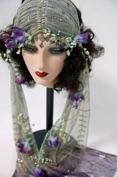 Ophelia Assuit Veil by MataHarisDaughter on Etsy