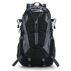 Mnkino Large 40l Lightweight Travel Water Resistant Backpack Hiking Daypack Outdoor Backpack Climbing Backpack Sport Bag Camping Backpack black * For more information, visit image link.Note:It is affiliate link to Amazon.