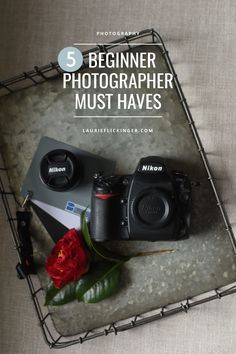 All a beginner photographer needs to have in her bag. And all on a budget.